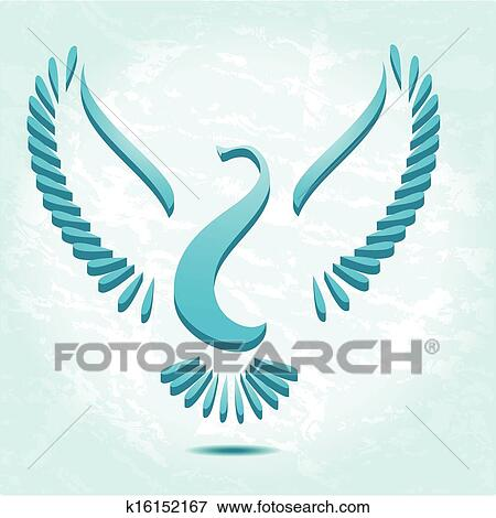 Clip Art - stilizzato, uccello, o, colomba k16152167 - Cerca ...