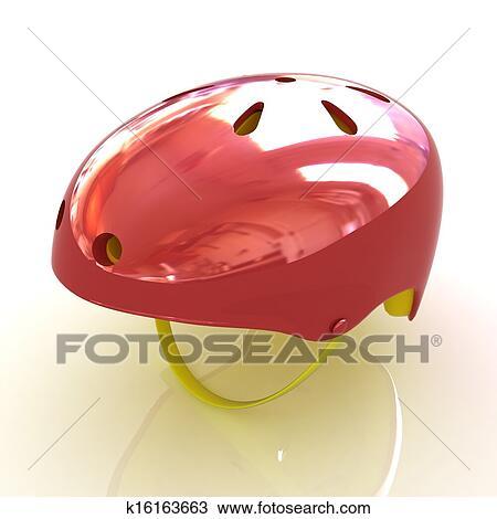 手绘图 - 自行车头盔