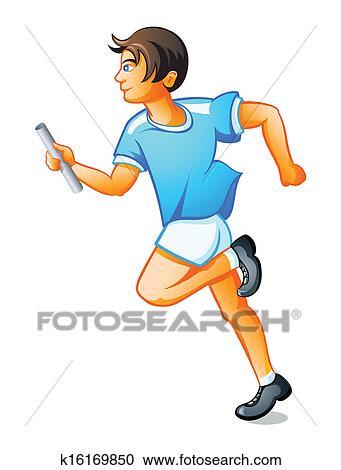 Clipart coureur gar on k16169850 recherchez des clip arts des illustrations des dessins - Coureur dessin ...