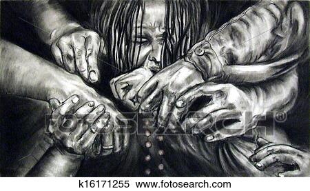 Stock Illustration of Hands Holding Each Other k16171255 ...Drawings Of Hands Holding Each Other