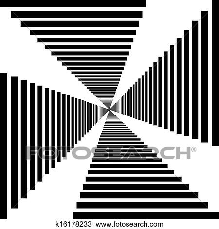 clipart of abstract descending stairs perspective tunnel