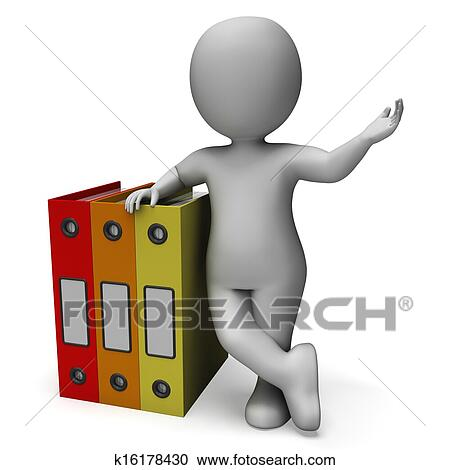 Stock Illustrations of Organizing Clerk Shows Organized ...