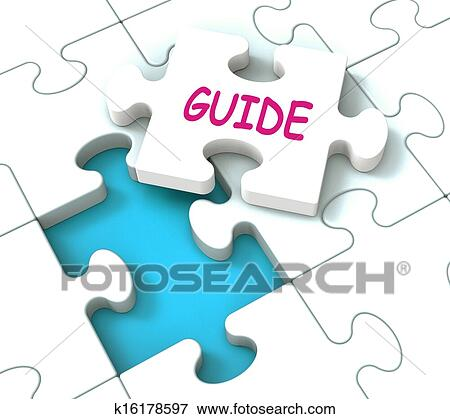 Drawing of Guide Puzzle Showing Consulting Instructions Guideline ...