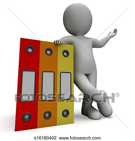 Organized Binder Clipart Clip Art of Org...