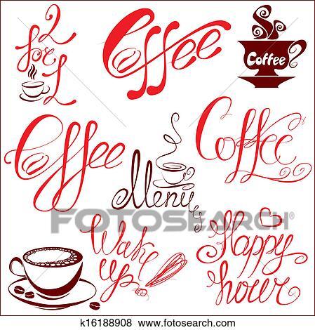 Caffe stilizzato
