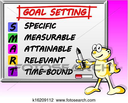 Clipart of Whiteboard Smart goal setting concept k16209112 ...