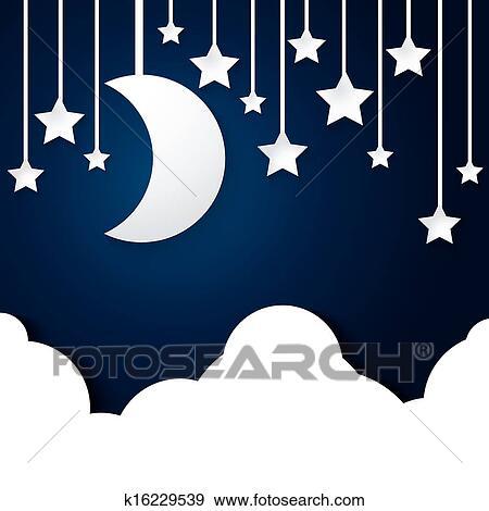月亮, 星, 同时
