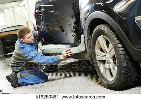 Banques de photographies automobile voiture corps for Arret voiture garage