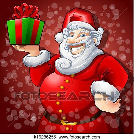 剪贴画 - 快乐, 圣诞老人