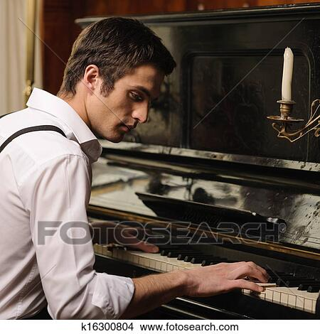 Handsome Man Photo With Piano 60
