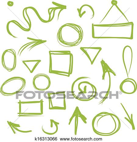 clip art pfeile und rahmen skizze f r dein design k16313066 suche clipart poster. Black Bedroom Furniture Sets. Home Design Ideas