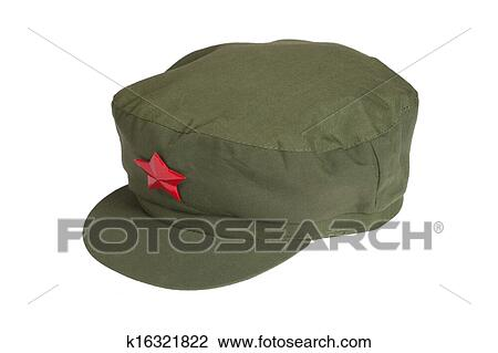 Stock Photo Of Chinese Mao Style Cap Isolated On White