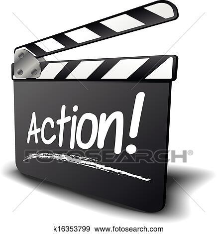 clip art of clapper board action k16353799 search auction clip art action clip art free