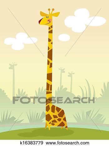Archivio illustrazioni sorridente cartone animato - Cartone animato giraffe immagini ...