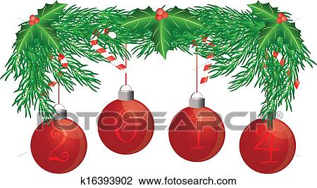 clipart weihnachtsbaum girlande mit 2014. Black Bedroom Furniture Sets. Home Design Ideas