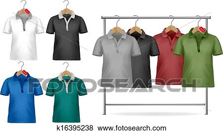 Kleiderständer clipart  Clip Art - weiß, und, buntes, t-shirt, design, template ...