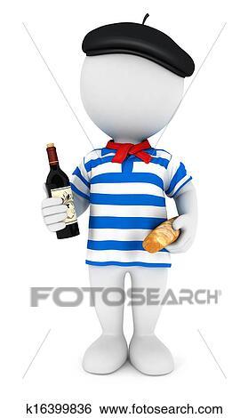 Arquivos de Ilustração - 3d, branca, pessoas, frenchman. Fotosearch - Busca de Imagens Clip Art, Desenhos, Impressões de Artes Finas, Illustrações e Vetores Gráficos EPS