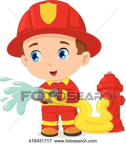 Clip Art Firefighter Clip Art clip art of firefighter k16431717 search clipart illustration fotosearch posters drawings and