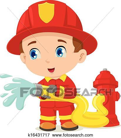 Clip Art of Firefighter Helmet Badge k6237969 - Search Clipart ...