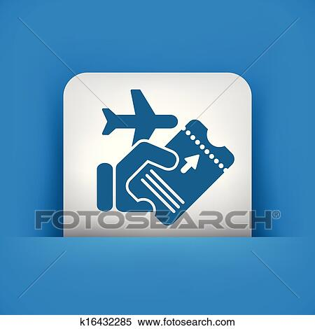 Clipart of Airline ticket k16432285 - Search Clip Art ...