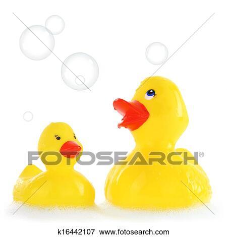 Immagine giallo madre bambino anatre gomma in for Vasca per anatre