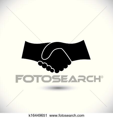 Clipart of Concept vector graphic icon - business hand shake in ...