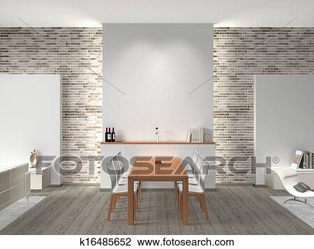 Stock foto innere von a esszimmer k16485652 suche for Innere design