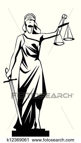 Clipart Of Lady Justice K12369061 Search Clip Art