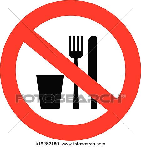 clip art of no food and drink sign k15262189 search clipart rh fotosearch com no food or drink clipart free no food or drink clip art on bus