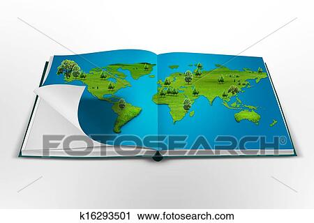 Clipart of open book with the world map k16293501 search clip art clipart open book with the world map fotosearch search clip art illustration gumiabroncs Image collections
