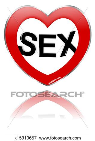 clip art of the inscription at the heart of sex k15919657 search rh fotosearch com  sex clipart image
