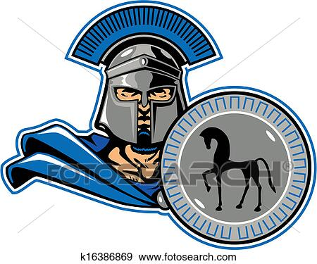clip art of trojan general k16386869 search clipart illustration rh fotosearch com trojan clipart logo clipart trojan head