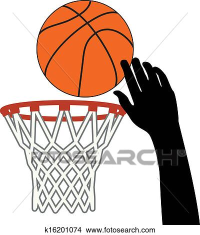 Basketball Ball And Hoop