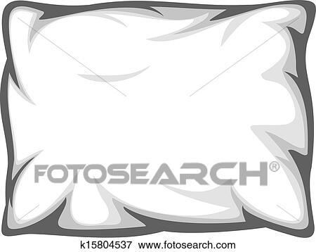Clip Art Of White Pillow K15804537