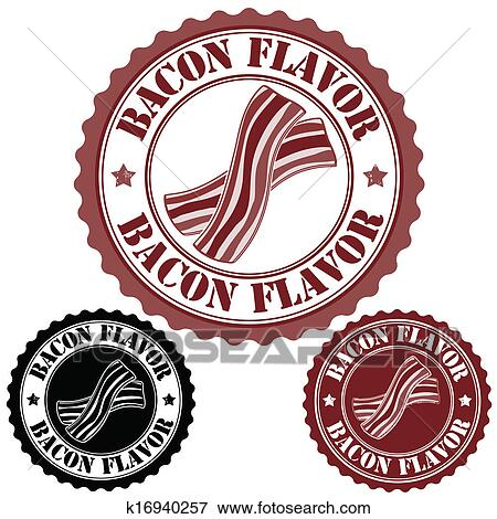 clip art of bacon flavor stamp k16940257 search clipart rh fotosearch com stamp clipart no background stamps clipart black and white