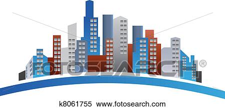 clipart of buildings logo k8061755 search clip art illustration rh fotosearch com clip art of building blocks clipart images of buildings
