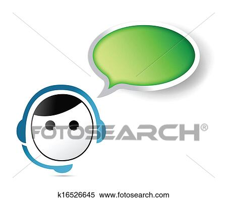 clipart of customer service representative contact us k16526645 rh fotosearch com clipart customer service customer service clipart free