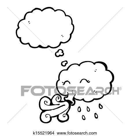 手绘图 - 卡通漫画, 暴风雨云