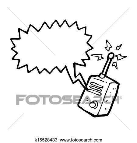 Drawing of cartoon walkie talkie k15528433 - Search Clipart ...