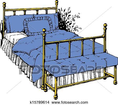 手绘情侣床