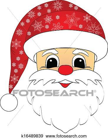 剪贴画 - 圣诞老人, 头