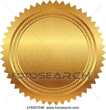 Clipart of Vector illustration of blue seal k8516324 - Search Clip ...