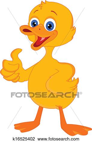 Clipart of cute little duck cartoon k16525402 - Search Clip Art ...