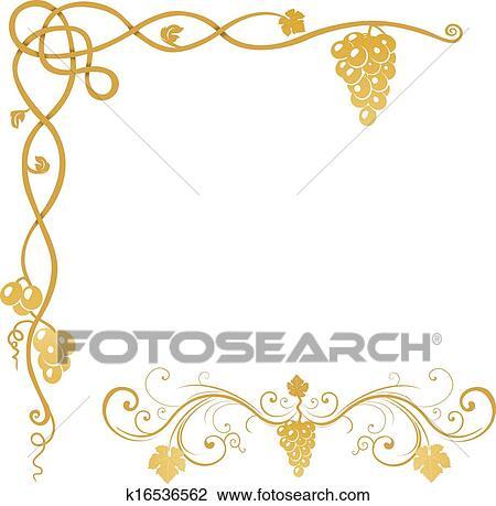 clipart vigne raisin ornement k16536562 recherchez des clip arts des illustrations des. Black Bedroom Furniture Sets. Home Design Ideas