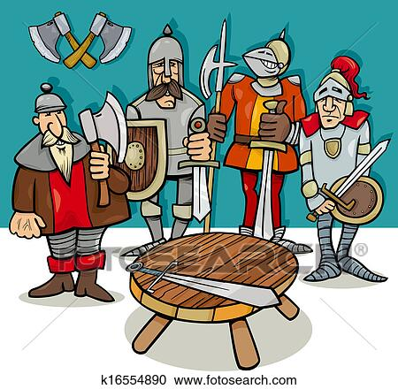 Clipart chevaliers de les table ronde dessin anim k16554890 recherchez des clip arts - Dessin anime chevalier de la table ronde ...