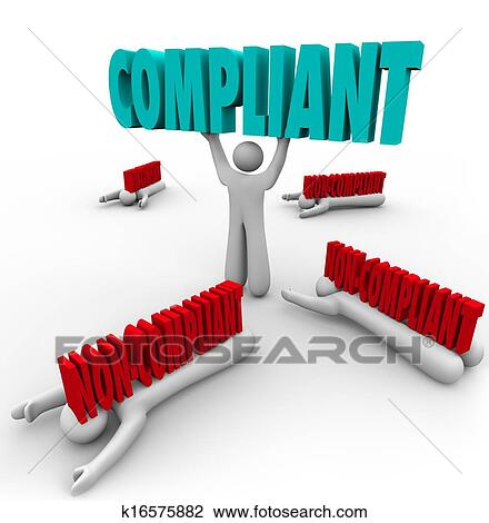 Stock Photo of Compliant Vs Non-Compliance One Person Follows Rules k16575882 - Search Stock ...