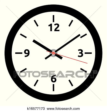 Clipart of vector clock face - easy change tim k16577173 ...