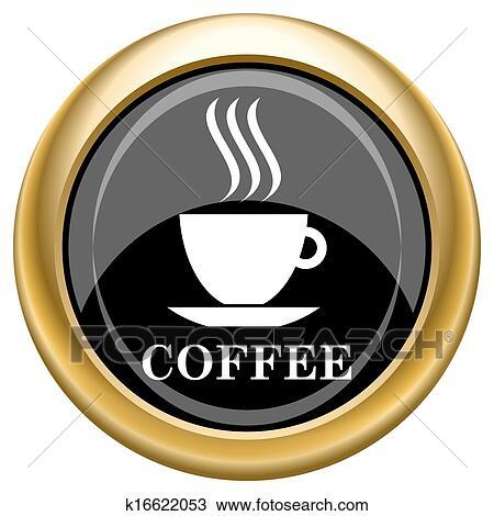 手绘图 - 咖啡杯, 图标