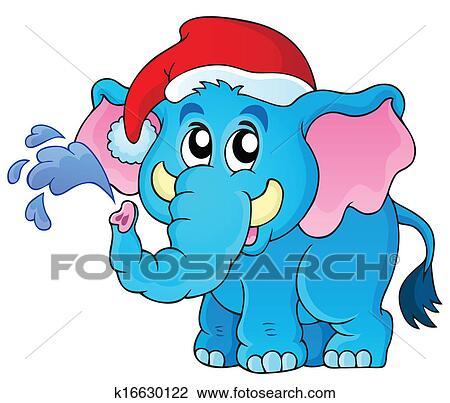 剪贴画 - 圣诞节, 动物
