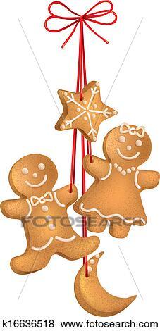 clip art weihnachten kekse k16636518 suche clipart. Black Bedroom Furniture Sets. Home Design Ideas